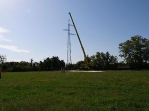 Démontage d'un pylône, 13 septembre 2018